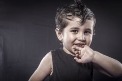 Free Rock, Child Rocker Dress And Funny Expressions Crested Stock Photo - 34793890