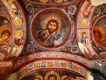 Rock church in Cappadocia. Frescos on the roof of a 12th century church in Cappadocia, Turkey Stock Photography