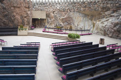 Rock Church In Helsinki Royalty Free Stock Image