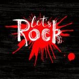 Rock Cita inspiradora Letras dibujadas mano Imagen de archivo