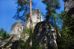 Rock City in Ardspach. Beautiful Rock City in Ardspach (Czech Republic Royalty Free Stock Image