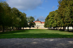 Palace in Rogalin. Historic palace in Rogalin (Poland Royalty Free Stock Images