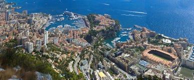 The rock the city of principaute of monaco and monte carlo Stock Photos