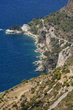 The rock the city of principaute of monaco and monte carlo in th Royalty Free Stock Image
