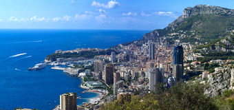 The rock the city of principaute of monaco and monte carlo in th Stock Photo