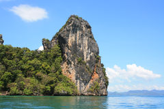 Rock cliff. Big rock cliff in the sea royalty free stock photo