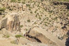 Rock cliff at Black Dragon Canyon Royalty Free Stock Photo