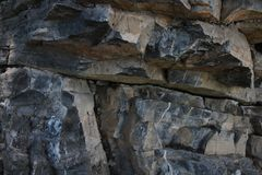 Rock, cliff, broken rock, the nature rock royalty free stock photos