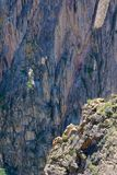 Rock cliff. The scenery of steep rock cliff royalty free stock photos