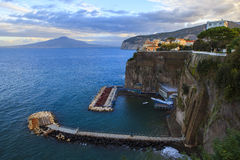 Rock cliff of sorrento coast mediterranean sea south italy royalty free stock photo
