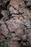 Rock cliff wall mountain background texture Royalty Free Stock Images