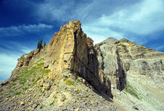 Rock cliffs of the Grand Tetons Stock Image