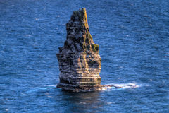 Rock at Cliffs of Moher Royalty Free Stock Photography