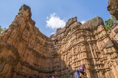 Rock cliffs of Pha Chor, Chiang Mai, Thailand stock images