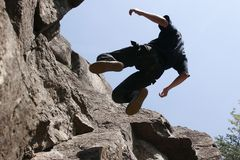 Rock climber stock images