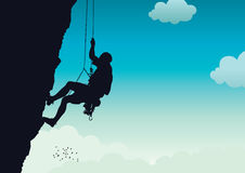 Rock climber royalty free illustration