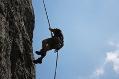 Rock climber Royalty Free Stock Photo