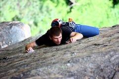A rock climber Stock Image