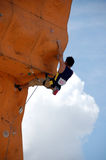 Rock Climber 2. Climber in a competition Royalty Free Stock Image