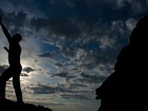 Rock climber Stock Photos