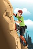 Rock climber. A vector illustration of a rock climber Royalty Free Stock Photo
