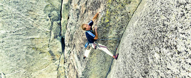 Rock climber. Royalty Free Stock Images