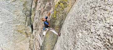 Rock climber. Royalty Free Stock Photo