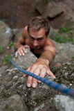 Rock-climber stock image