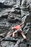 Rock-climber with blur. Stock Images