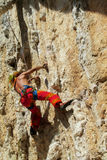 Rock climber on the cliff Royalty Free Stock Photography