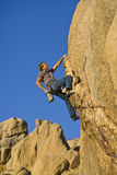 Rock climber dangling. Stock Photos