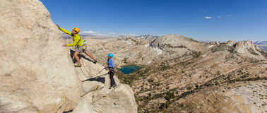 Rock climber on the edge. Stock Images