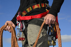 Rock Climber Equipment Royalty Free Stock Photos