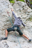 Rock climber - athletic man Stock Image