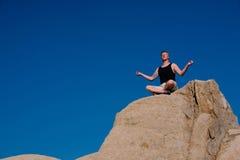Rock Climber Meditation stock photos