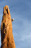 Rock Climber Rappelling Stock Images