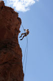 Rock Climber Rappelling Royalty Free Stock Images