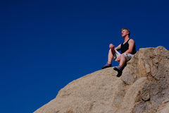 Rock Climber Resting Royalty Free Stock Photography