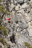Rock climber Rocky Mountains Royalty Free Stock Photography