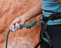 Rock Climber's Rope and Gear Stock Photography