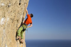 Rock climber. Stock Photos