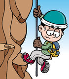Rock climber. Vector illustration of Rock climber Royalty Free Stock Images
