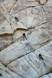 Rock Climbers. Three rock climbers in joshua tree national park Stock Images