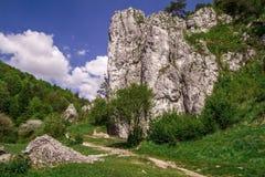 Rock climbers - Brama Bolechowicka, Bolechowice, Poland Royalty Free Stock Photo