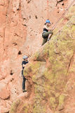 Rock climbers in Colorado Garden of the Gods Royalty Free Stock Image