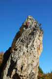 Rock-climbers on rocks of Crimea Stock Images