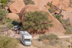 Rock climbers at Spitzkoppe Royalty Free Stock Photography