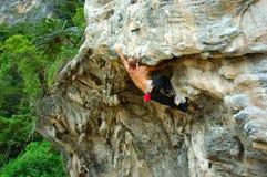 Rock Climbing. In Koh Samui, Thailand Royalty Free Stock Images