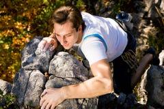 Rock Climbing Stock Image