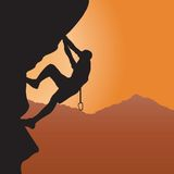 Rock climbing. Illustration for you design Royalty Free Stock Images